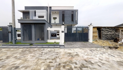 Contemporary 4 Bedroom Semi-Detached Duplex Plus BQ 3D Model